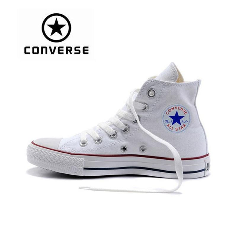 3065debe839c Original Converse ALL Star Shoes Classic Unisex Canvas Skateboarding Shoes  High Top Anti-Slippery Sneaksers Classique Flat Shoes.