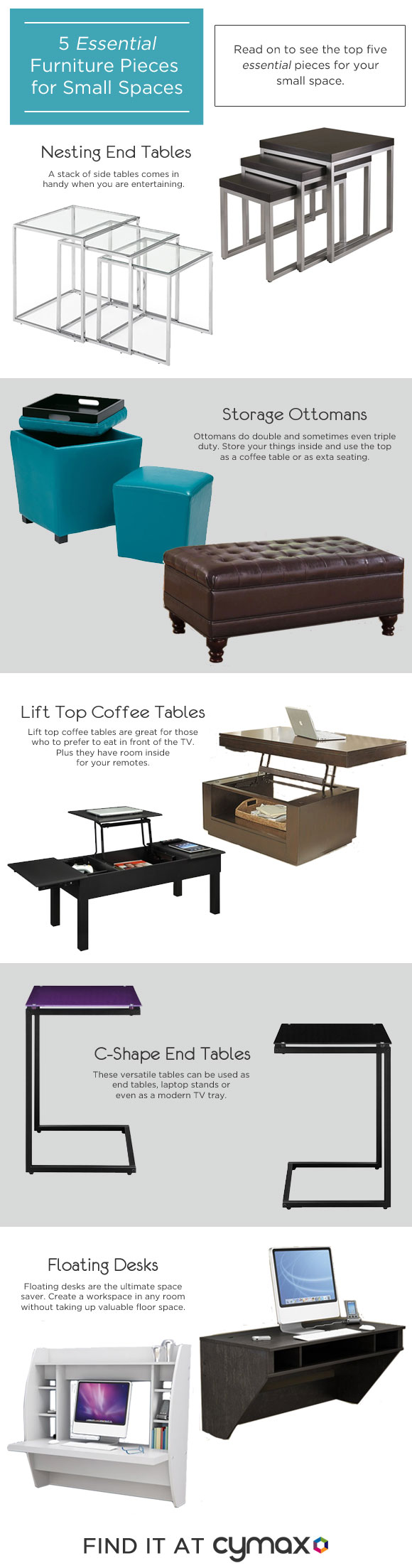 5 Essential Furniture Pieces for Your Small Space