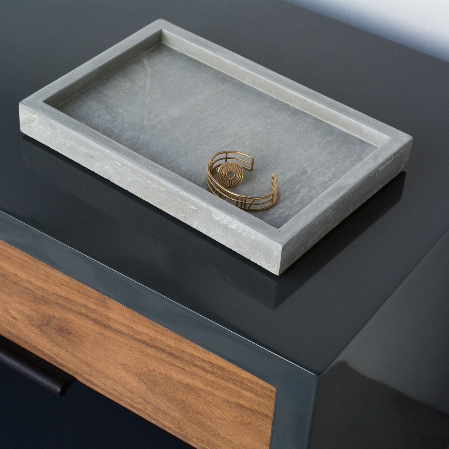 Rest your personal accessories on a backdrop of concrete. This valet tray expresses a bold minimal style sure to compliment and table or desk.   #WorkOf #WorkOfDoesHoliday #HolidaySeason #TisTheSeason #WhereDesignLives