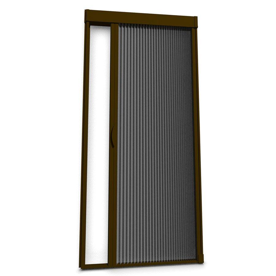 Larson Inspire Brownstone Aluminum Frame Retractable Screen Door