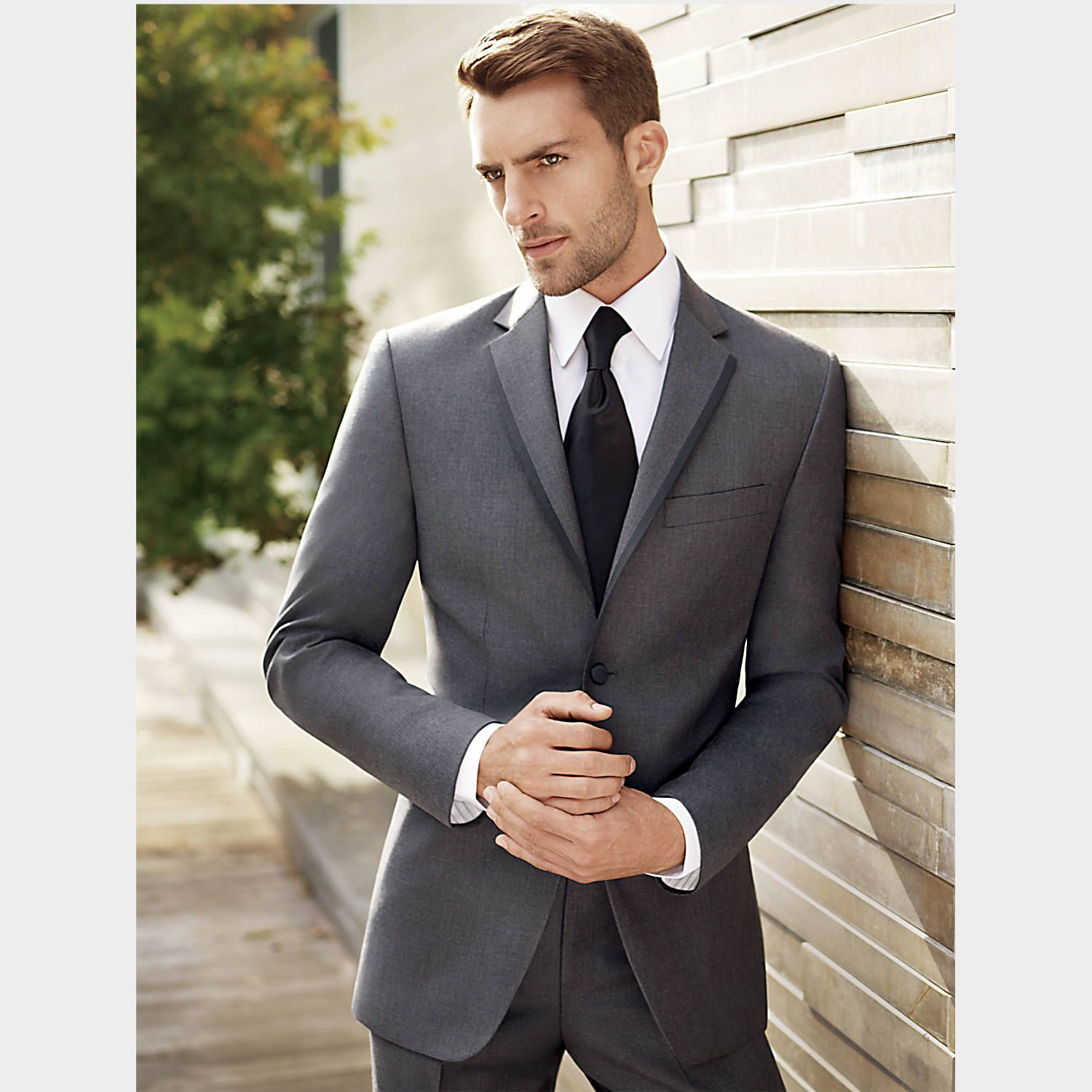 0a8e6010433 Tuxedo Adam and groomsmen will be wearing. It will also have the vest. BLACK  by Vera Wang Gray Slim Fit Tuxedo - Tuxedos | Men's Wearhouse