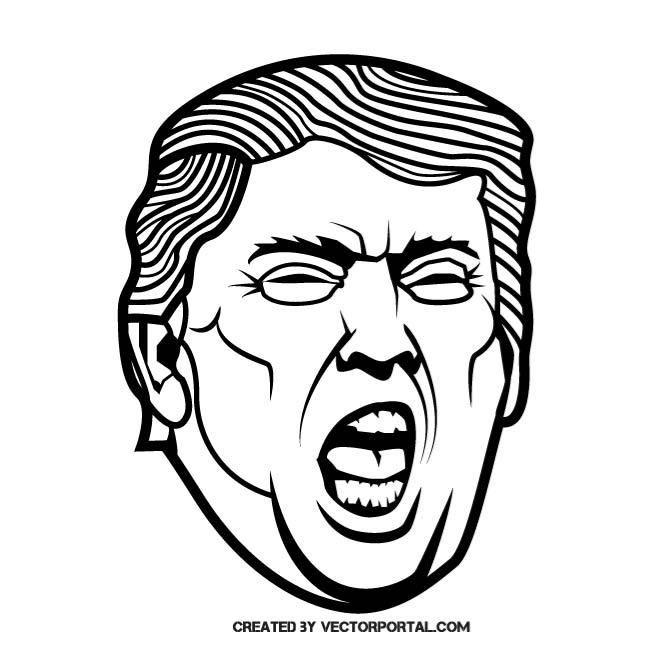 AMERICAN PRESIDENT DONALD TRUMP Celebrity Vector