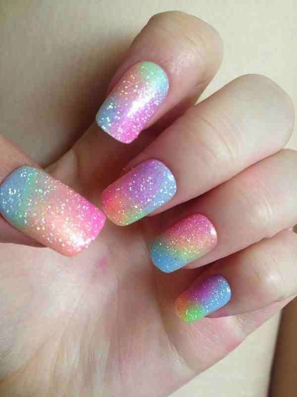 Cute Rainbow Nail Design 2014 imgf22a8f9153f29e5ed | $Fashion ...