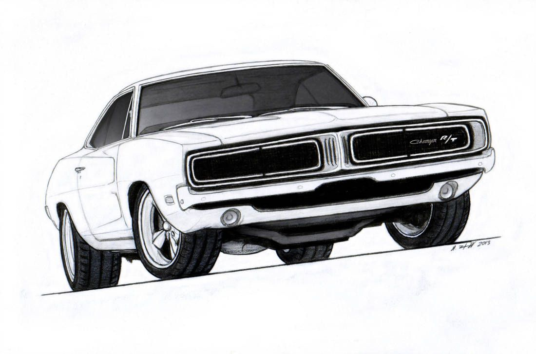 1969 Dodge Charger R/T Pro Touring Drawing by Vertualissimo on DeviantArt