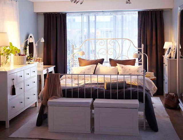 IKEA bedroom  Ikea bedroom design, White metal bed frame, White