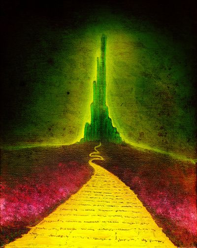 """The Wizard Of Oz Wide Screen 12/"""" x24/"""" Emerald City Movie Poster Dorothy Tin Man"""