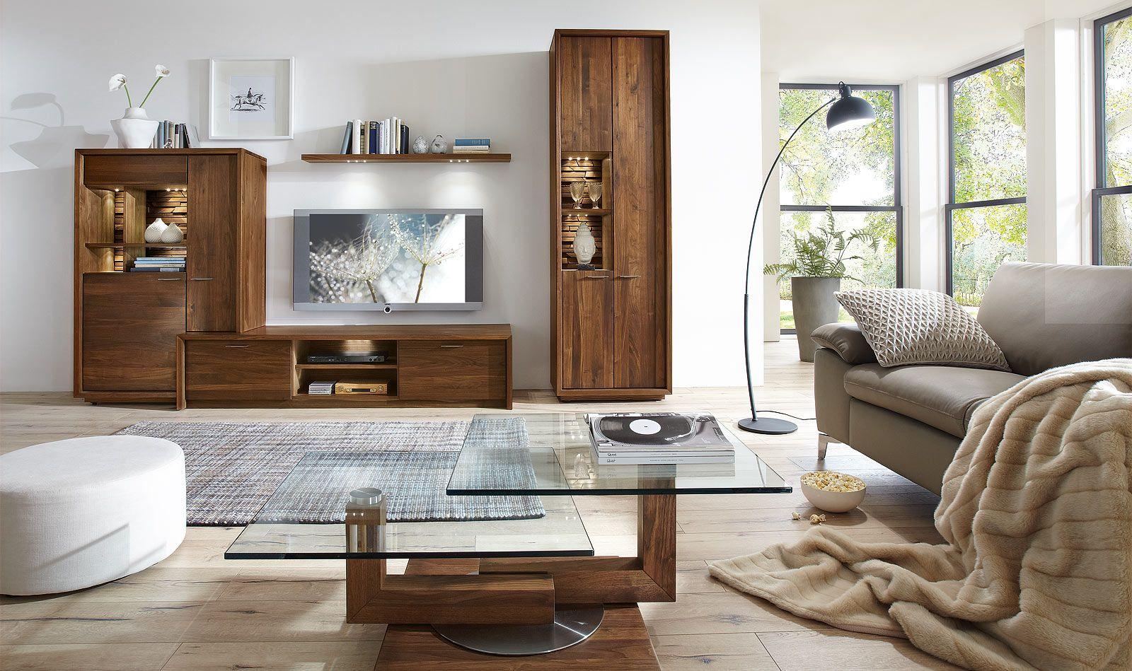 Wohnzimmermöbel Nussbaum  Venjakob möbel, Kleines wohnzimmer
