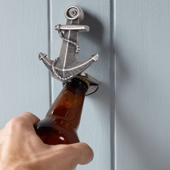 novelty wall mounted bottle opener anchor for the home pinterest mounted bottle opener. Black Bedroom Furniture Sets. Home Design Ideas