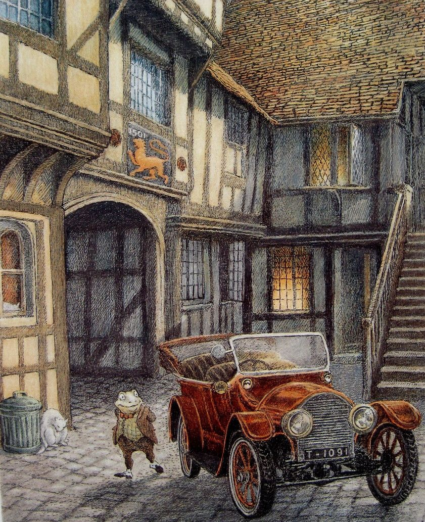 Flutterby patch the wind in the willows illustration
