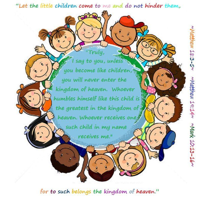 Schools Education3 18 19south Haven: Matthew 18:3-5;19:14; Mark 10:13-16 ~ Let The Little Children Come To Me.
