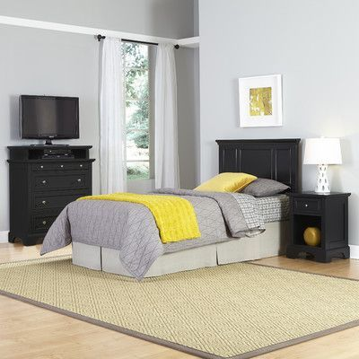 Home Styles Bedford Panel 3 Piece Bedroom Set
