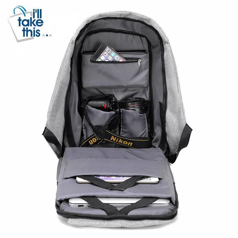 Backpack Laptop Bag Travel School Usb Anti Charging Theft Men  Waterproof