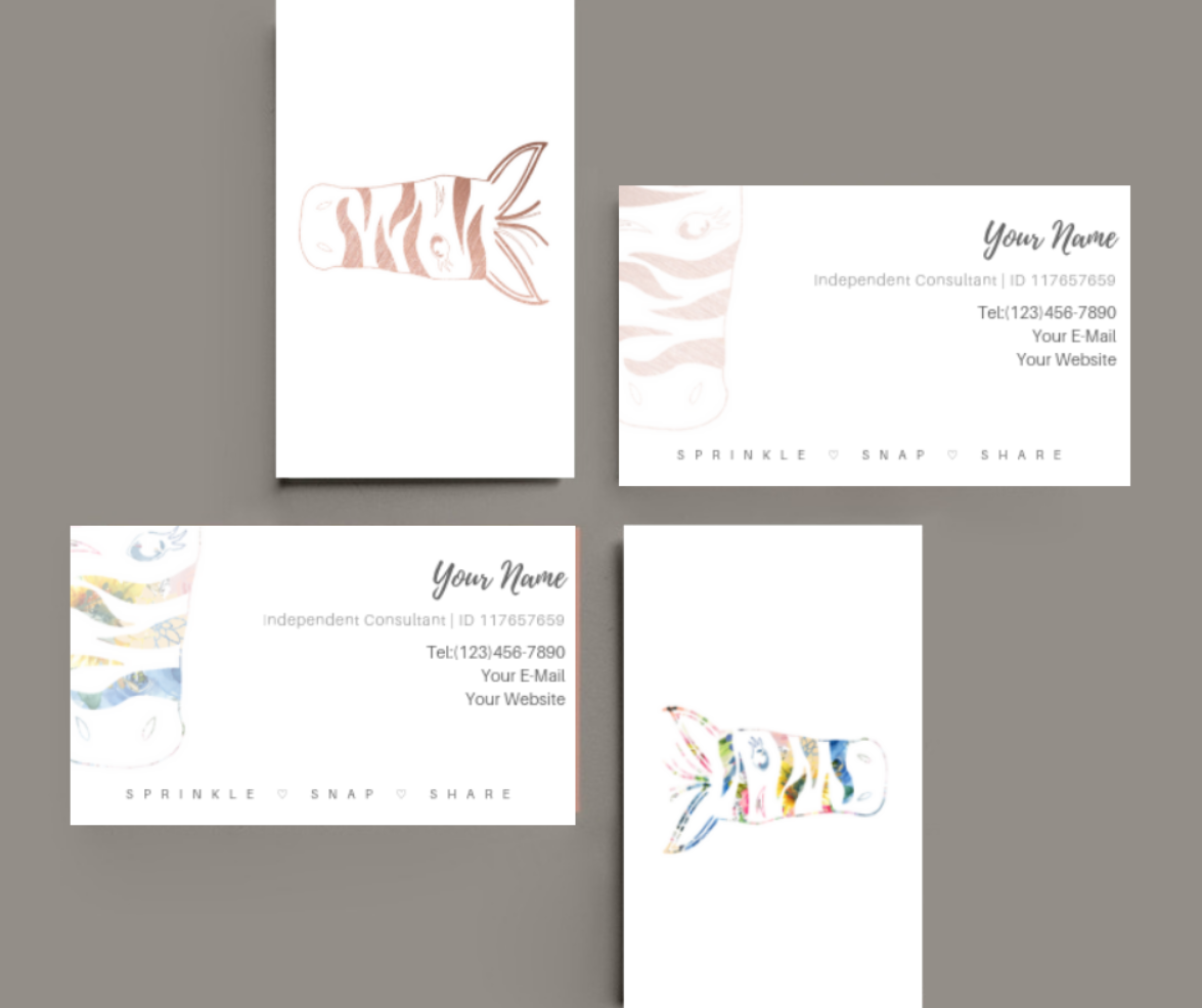 Pink Zebra Business Cards Template For Canva Pink Zebra Templates Pink