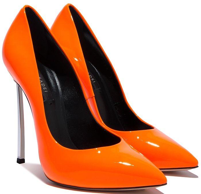 Pompes À Lame Casadei - Jaune Et Orange ktpoY5i2Q8