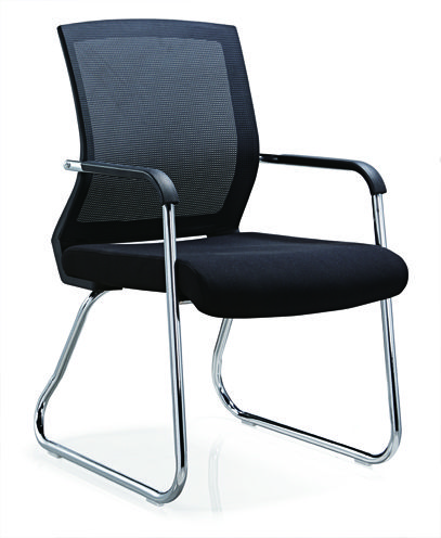No folded Office Furniture Conference Visitor Chair Mesh ...