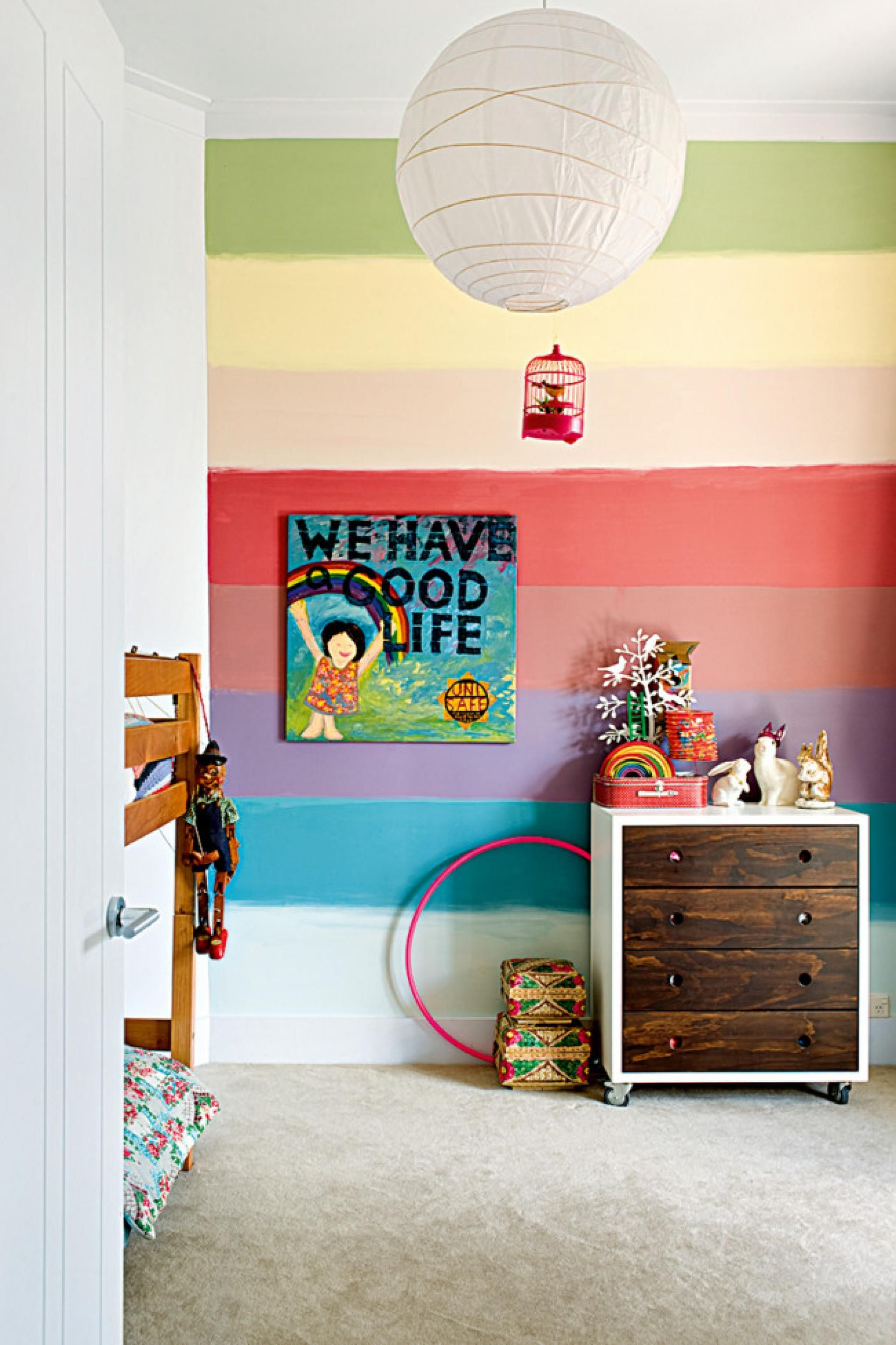 Rainbow Kids Rooms 13 Ideas Muy Originales Para Pintar Las Paredes Y Los