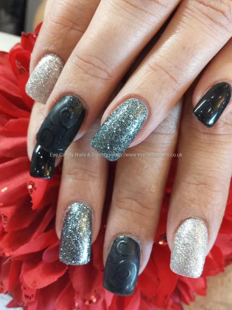 Blacksilverandgreymattandshinynailart nailstoes eye candy nails training black silver and grey matt and shiny nail art by elaine moore on 7 november 2013 at prinsesfo Gallery