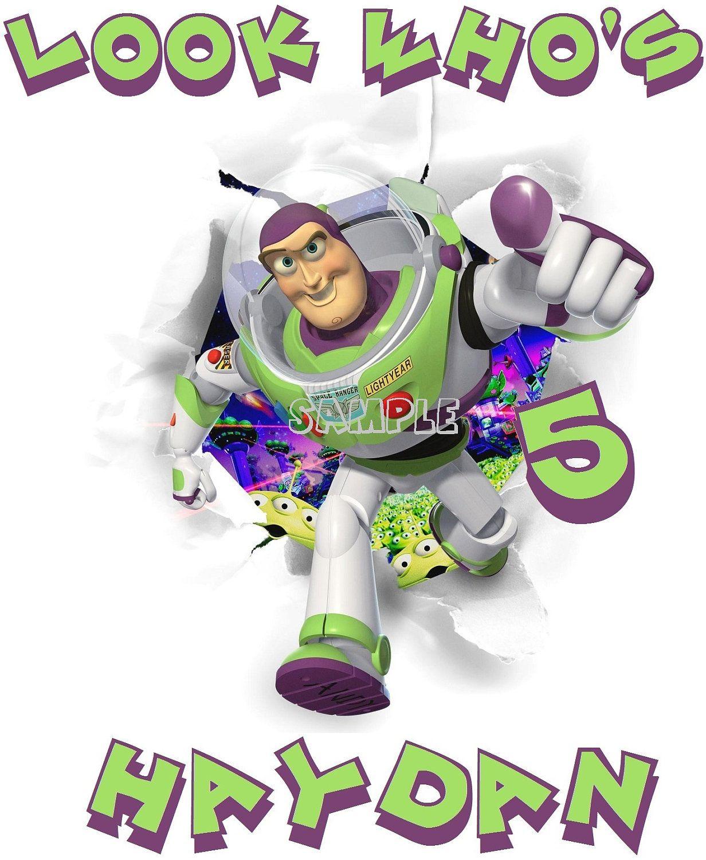 Toy Story Buzz Lightyear Birthday Custom T Shirt Or Onesie All