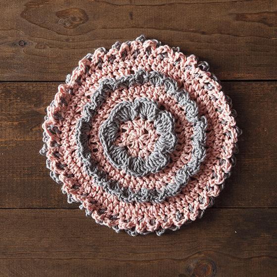 Misty Rose Crochet Dishcloth Pattern | Crocheted/Knit Dishcloths ...