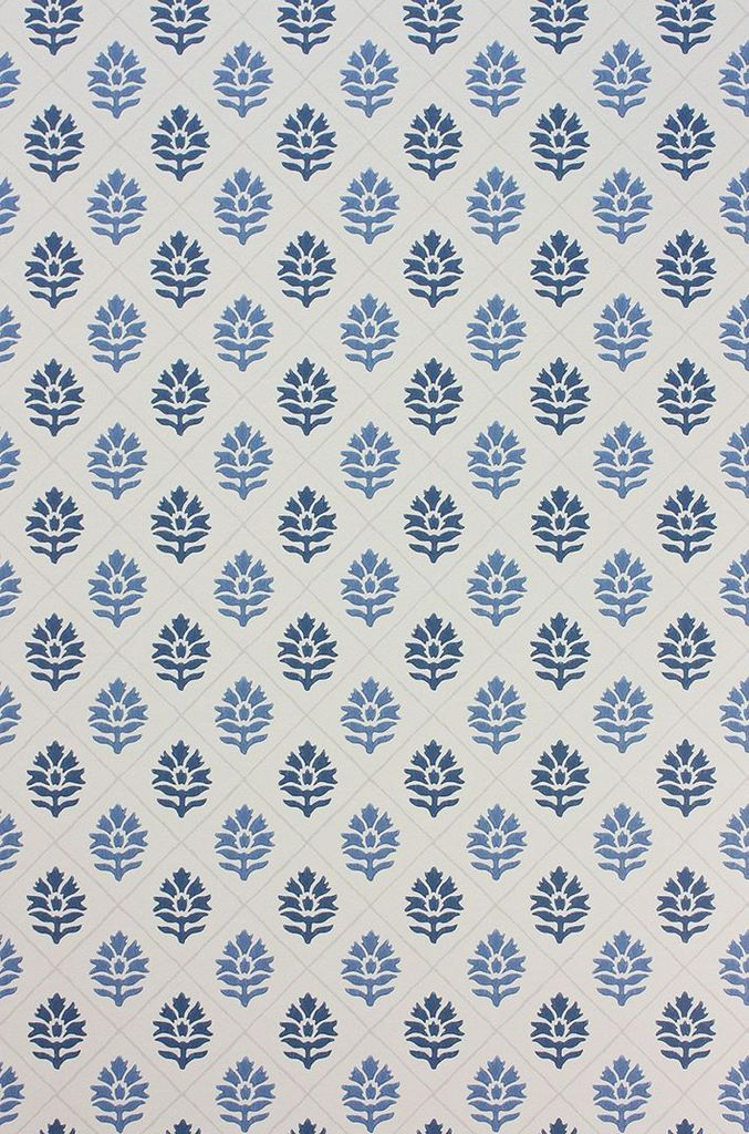 Camille Wallpaper in Blue from the Les Rêves Collection by