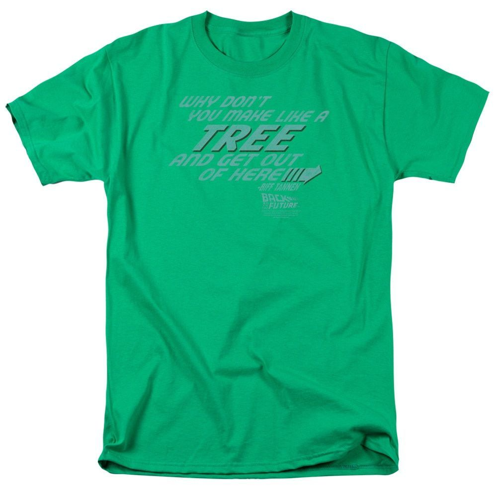 Back To The Future/Make Like A Tree Short Sleeve Adult 18/1 in Kelly