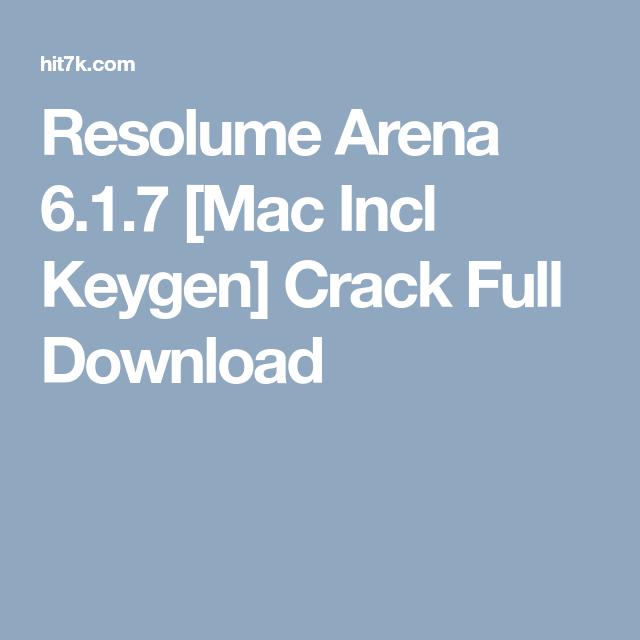 Resolume Arena 6 1 7 [Mac Incl Keygen] Crack Full Download