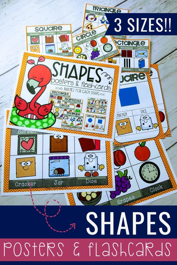 Shapes (Posters & Flashcards) Shape posters, Elementary