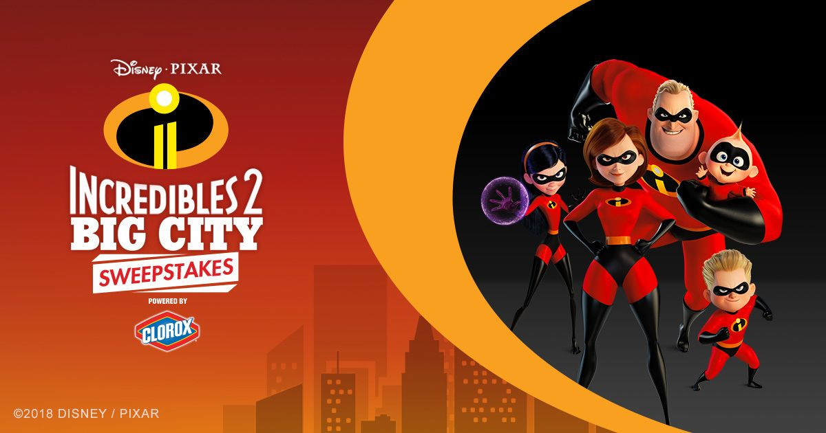 incredibles 2 big city sweepstakes ends 7 1 daily entries