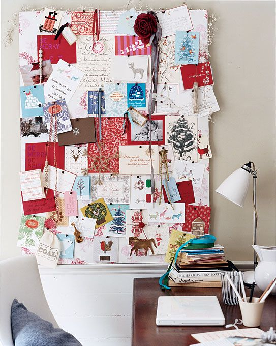 Holiday Decor Ideas Card displays, Christmas card display and