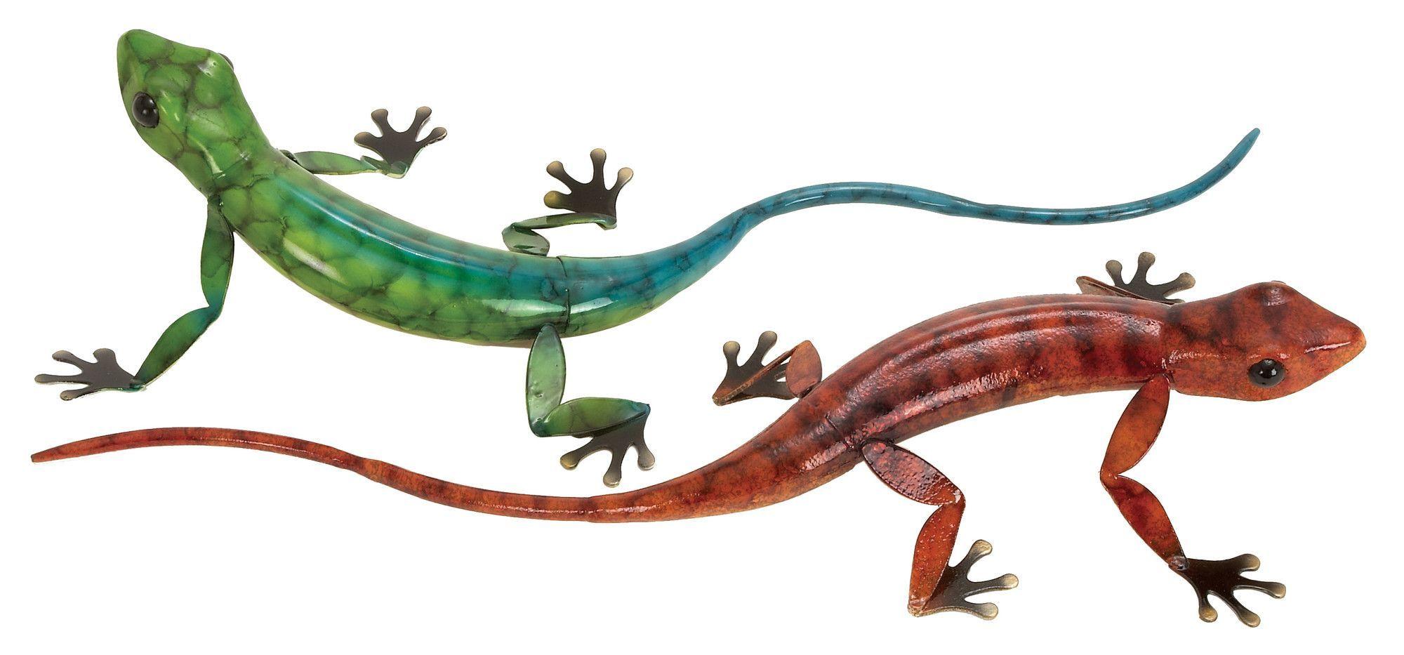 piece geckos wall décor set products pinterest geckos and