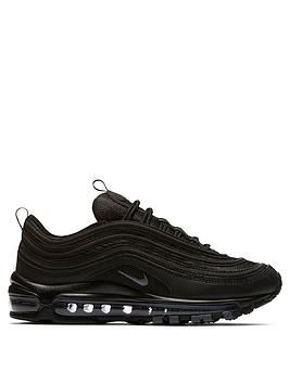 Nike Air Max 97 Black , BlackGrey, Size 3, Women Black