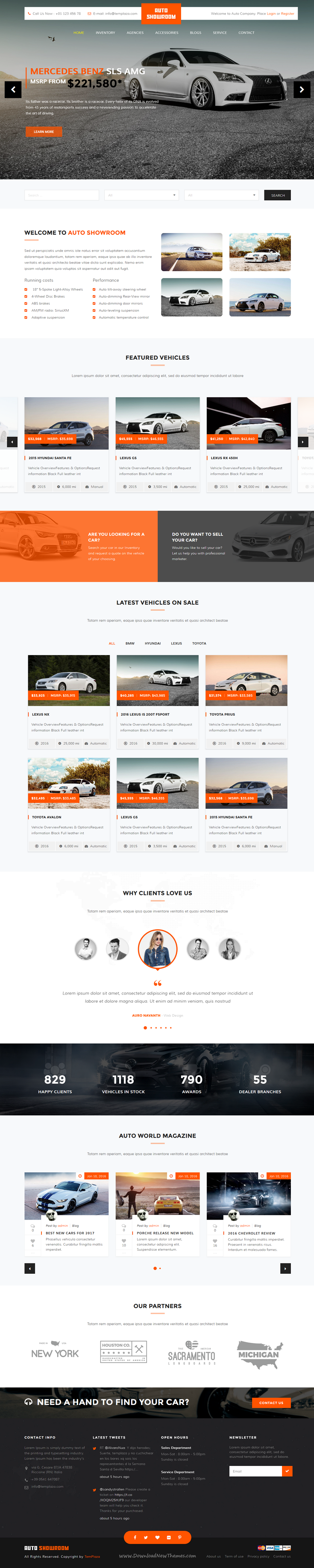 Auto Showroom is clean and modern design WordPress Theme for #Car Dealer, #Auto…