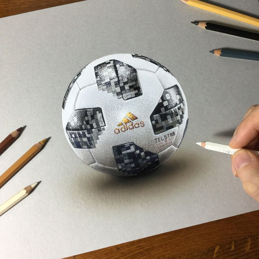 Drawing 2018 Fifa World Cup Official Ball By Https Marcellobarenghi Deviantart Com On Deviantart Realistic Art Sketch Book Drawings