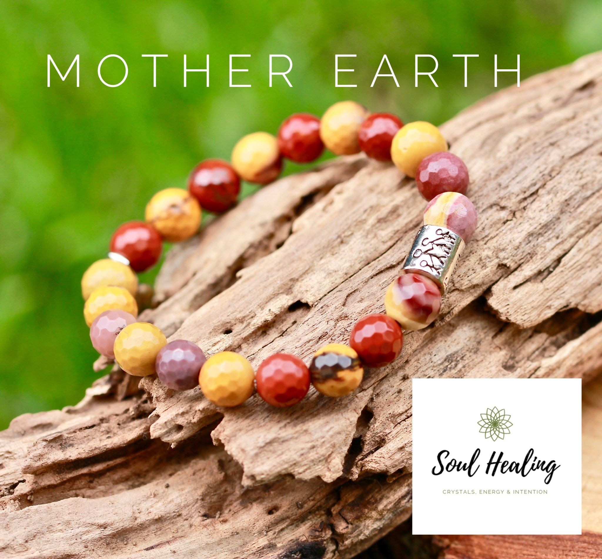 f46876cacca8da Mookaite Jasper Gemstone Bracelet, Mother Earth. | Crystals for Him ...