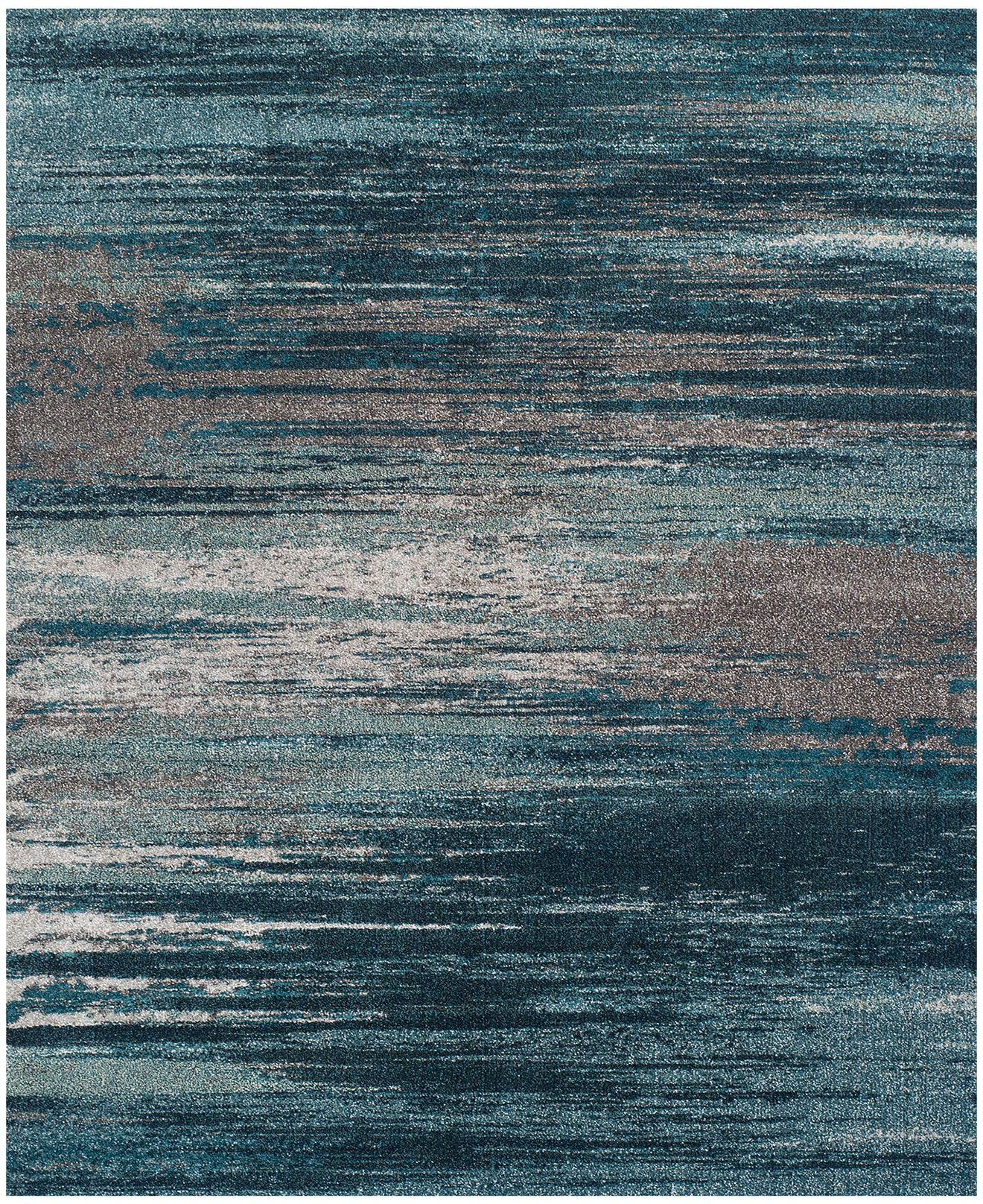 Dalyn Neo Grey Haze Teal 5 3 X 7 Area Rug
