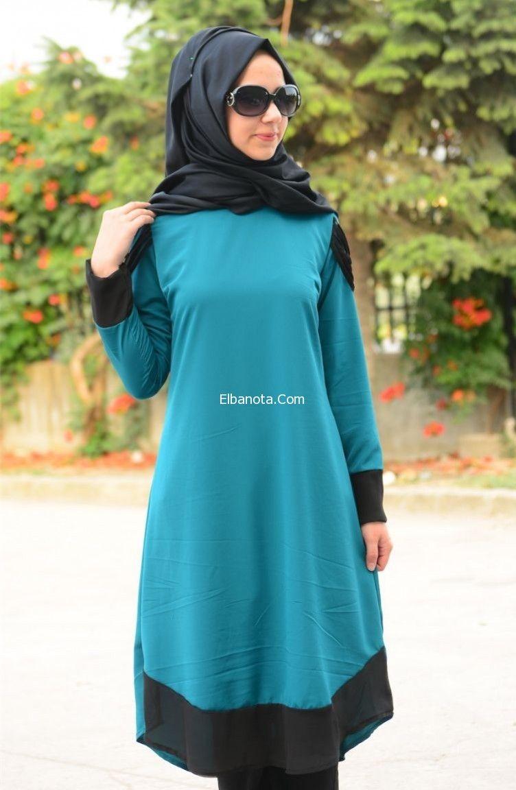 بلوزات تركية للمحجبات بلوزات محجبات طويلة 2015 Fashion Hijab