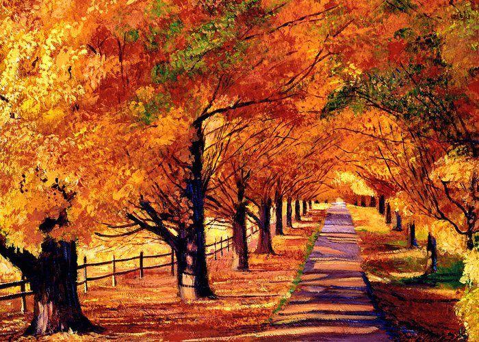 Autumn in Vermont by David Lloyd Glover