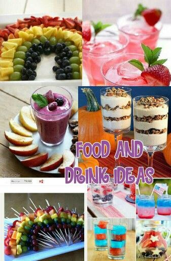 Yummy food and drink ideas for parties and other events!