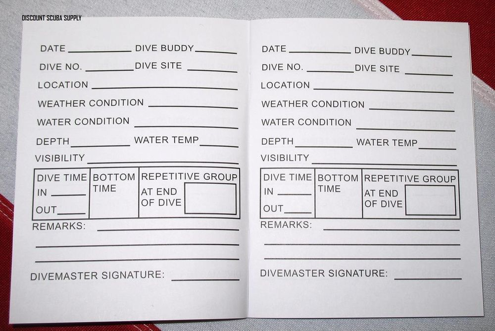 Dive log book small travel size scuba diving equipment snorkel surfing kayaking scuba gear - Dive log book ...