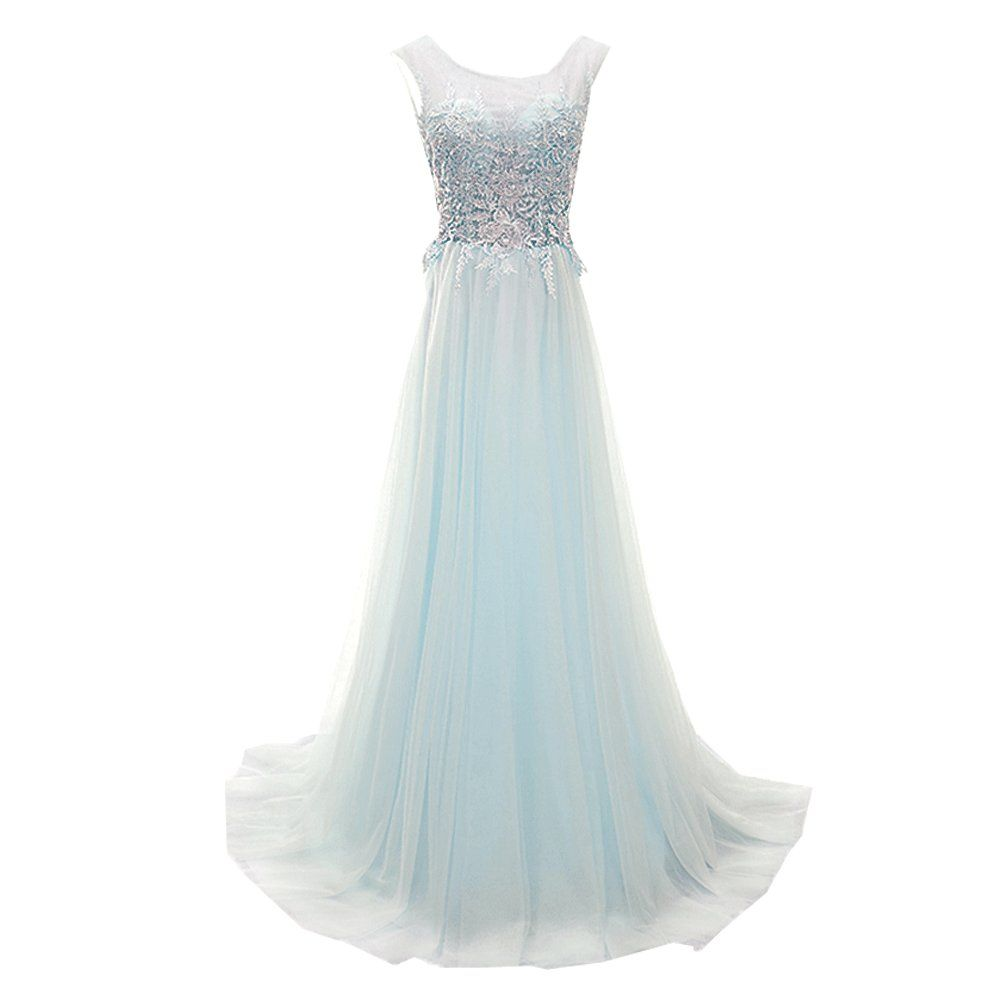 Superkimjo lace tulle prom dresses a line formal evening dress
