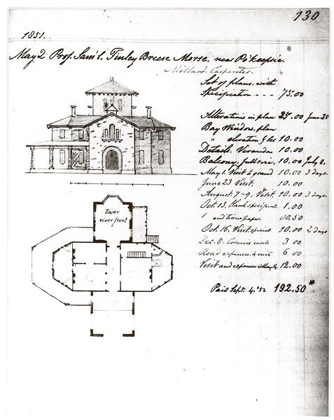 Locust Grove Samuel F B Morse Estate Blueprints Invoice
