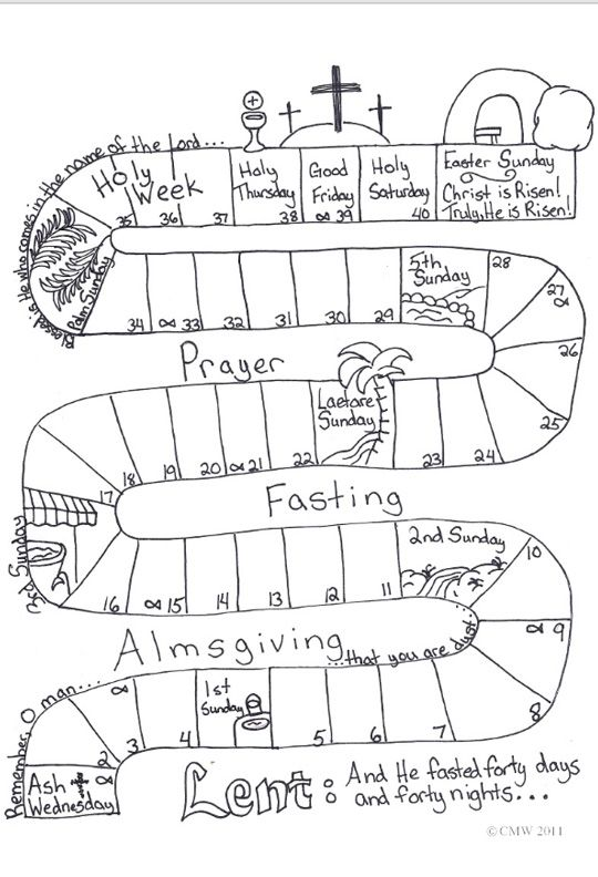Lent Calendar I Did This With My Catechism Class The Children