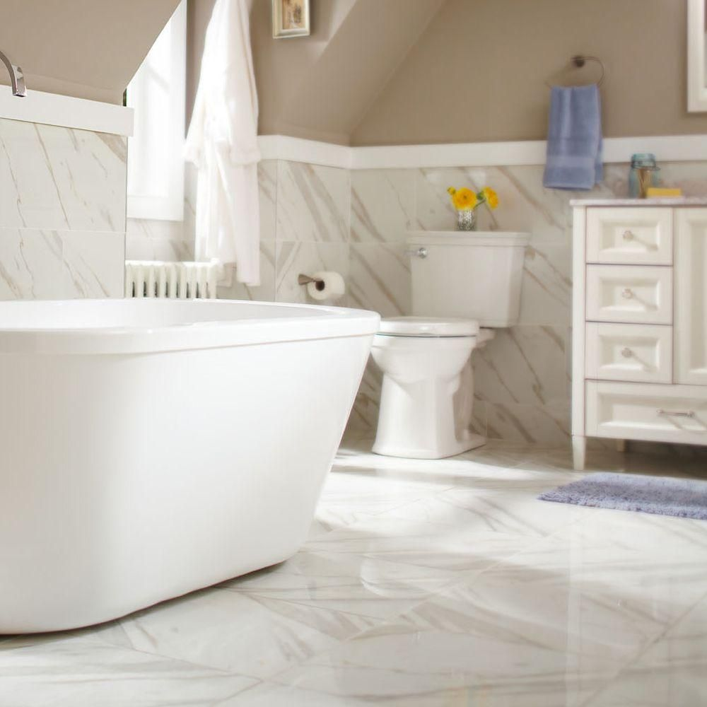 Ms international calacatta ivory 12 in x 24 in glazed polished elegantly complement a variety of decor with the help of this ms international calacatta ivory glazed polished porcelain floor and wall tile dailygadgetfo Image collections
