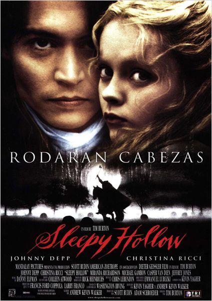 Sleepy Hollow Cartel Películas De Johnny Depp Peliculas Peliculas De Epoca