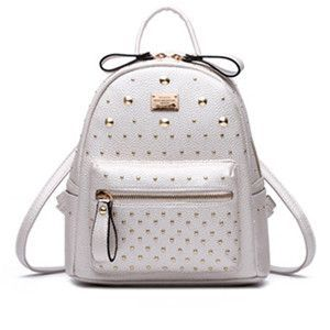 700991912d Autumn and Winter PU Leather Rivet Backpack Bag Design School Bags for  Teenage Girls Travel Bag Small Women Backpack