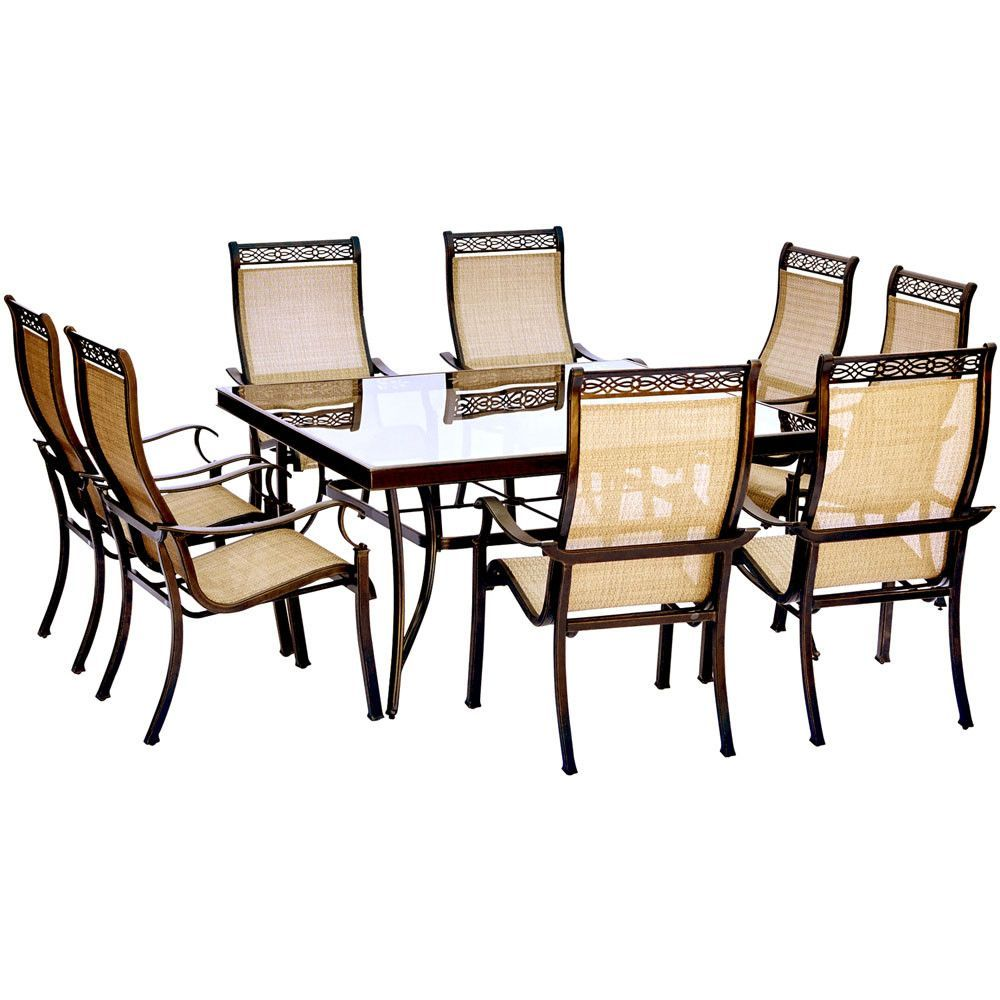 Hanover monaco pc dining set sling chairs and