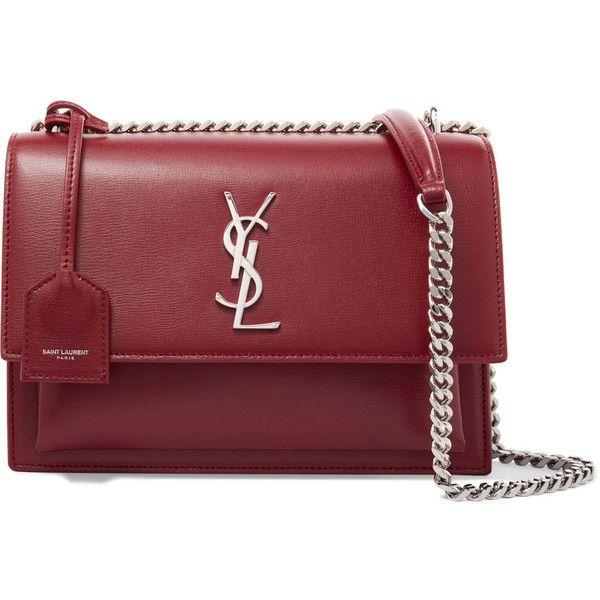 Sunset Medium Leather Shoulder Bag - Burgundy Saint Laurent MZ5tog