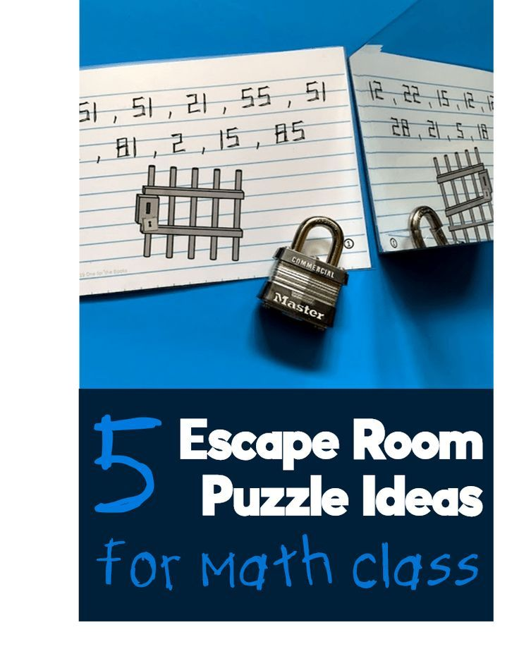 Five clever ways to upgrade any math escape room - One for ...