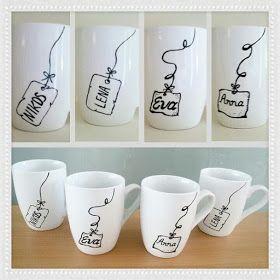Handicrafts: Χειροποίητα ζωγραφιστά φλυντζάνια! #mugcup