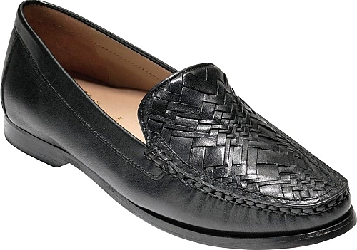 cb075bf63d4 Women s Cole Haan Pinch Genevieve Loafer in Black Leather. A woven toe adds  vintage appeal